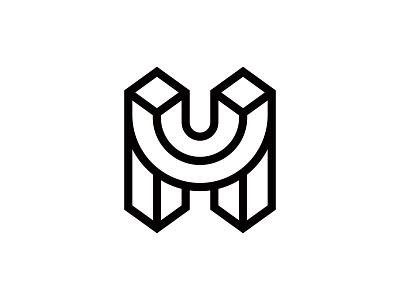Letter H + Smile positive lines smile letter h letter h vector branding design symbol martsvaladze anano logo mark