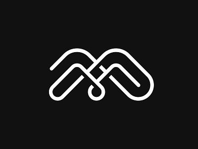 Letter M + Mountains + Water logos symbols marks simple logos simple logo brand identity minimalistic logos minimalistic logo water drop mountains lines letter m letter m branding design symbol logo mark
