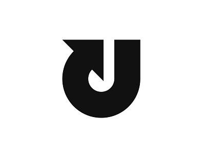 Letter U + Arrow lettermark letter u arrow letter u symbol mark logo