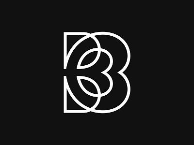 Letter B + Heart + leafs logos
