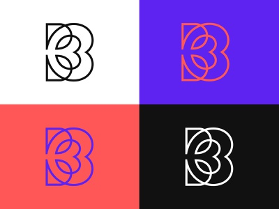 Letter B + Heart + leafs positive logos positive logo positive modern colorful logo love colorful logo colorful design best logos abstract logo logos