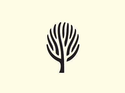 Tree   symbol tree negative space winter logo mark martsvaladze anano