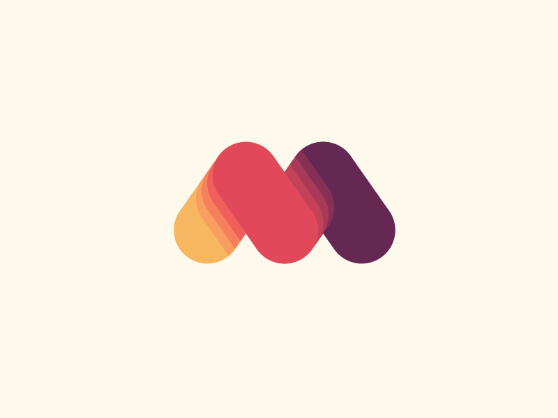 Motion martsvaladze anano symbol logo mark lettermark m favorite love motion