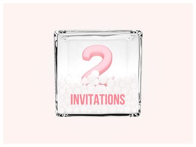 2x Drbbble Invitations