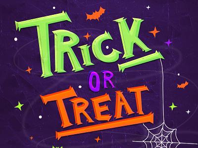 Trick or Treat pekxel illustration halloween