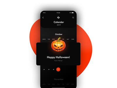 halloween pekxel uidesign app ui halloween