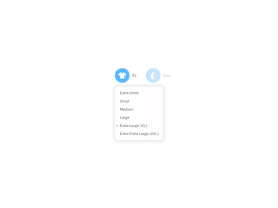 Dropdown (Daily Challenge #27) dailyui