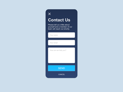 Contact Us (Daily Challenge #28) dailyui
