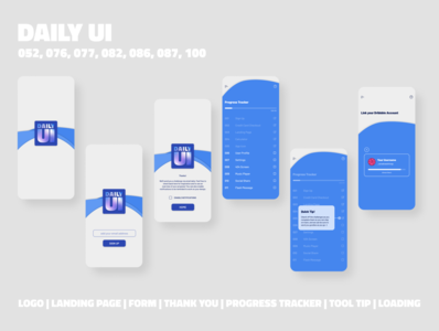 Daily UI App Design // Multiple Challenge Days