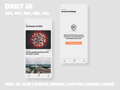 News App // Daily UI Challenges