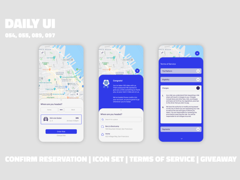 Ride Sharing App // Daily UI Challenge