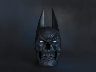 The Batman dc dc comics batman movie dark knight the batman batman painting art dribbble skull digital art artwork drawing design illustration