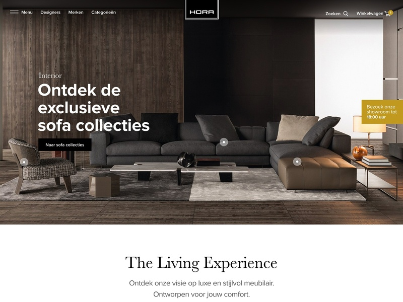 The Living Experience adobexd photography identity branding logo typography photo menu interface inspiration grid designs ux ui web minimal website webshop design e-commerce