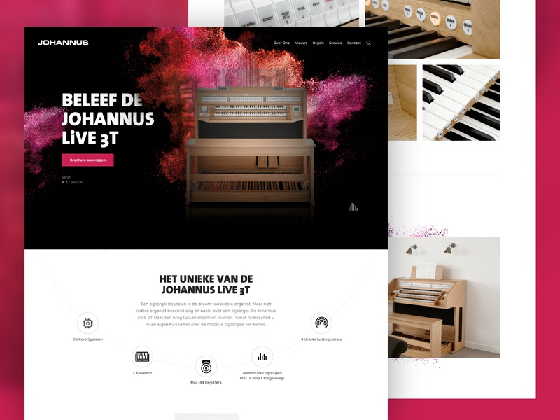 Johannus - Concept '18 minimalism web website design interface typography landingpage e-commerce inspiration grid ui minimal adobexd