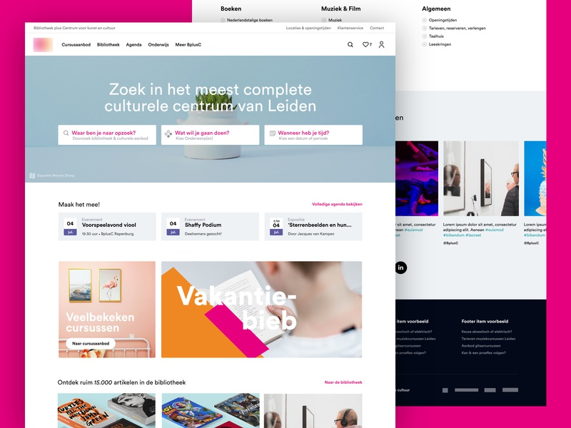 B+C - Concept '18 landingpage webdesign website interface identity designs branding ui minimal inspiration grid design adobexd
