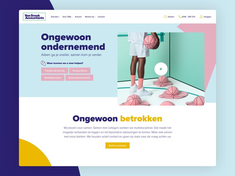 VBA - Concept '19 identity corporate website typography ui branding minimal inspiration design adobexd