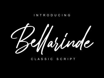 Bellarinde / Script Font sign rough quotes poster packaging logotype logo fonts logo hipster fonts hipster handwritten handwriting fonts handlettering font dry calligraphy fonts calligraphy brush fonts brush brand