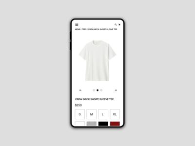 Retail Concept, Product Details Page