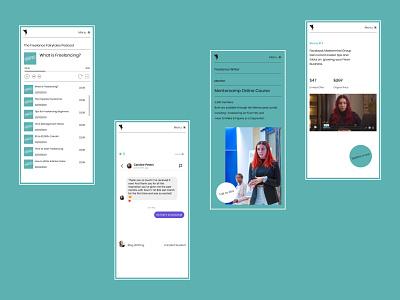 Personal Website - Mobile Design design mobile website design portfolio website personal website ux  ui website user experience webdesigner website design web design brand design user interface design