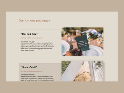 Luxury Picnic Packages - Picnic n' Chill product design webflow uiuxdesign user experience landing page web design webdesigner user interface design we graphic design