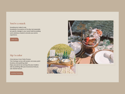 Elevate your picnic experience - Picnic n' Chill luxury picnic picnic website product design user uiuxdesign user website design user experience landing page brand design web design webdesigner user interface design