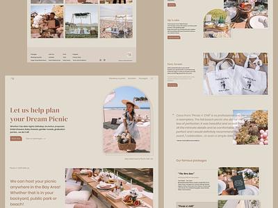 Plan your Dream Picnic - Picnic n' Chill user interface picnic planner luxury picnic picnic website uiuxdesign website design user experience landing page brand design web design webdesigner user interface design
