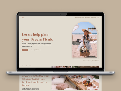 Nothing less of perfection - Picnic n' Chill user interface webflow event planner host luxury picnic organizer uiuxdesign website user experience landing page brand design web design webdesigner user interface design