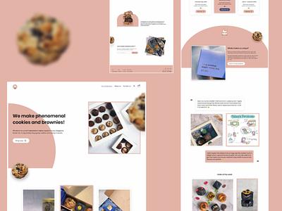 Whiskdom - Phenomenal cookies and brownies! branding bakery website cookies website web interface uiuxdesign user experience web design landing page brand design webdesigner user interface design