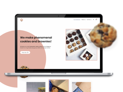 The best brownies and cookies you'll ever have. browny website cookies website bakery website prototype mockup web interface user interface web mockup design website user experience branding graphic design landing page brand design web design webdesigner user interface design