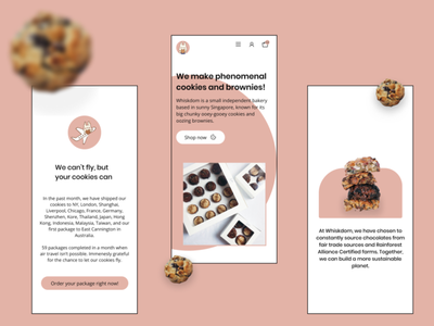 CHUNKY THICCCCCCC COOKIES - WHISKDOM product design user interface uiuxdesign mobile design mobile interface mobilewebsite design website landing page brand design web design webdesigner user interface design user experience