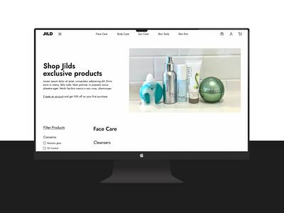 Skincare E-commerce Website - Jild Wellness product shop uiux development webflow webdesign ecommerce ui branding graphic design website design user experience landing page brand design web design webdesigner user interface design