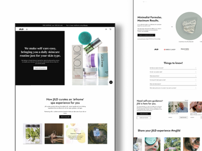 Philosophy of simplicity and transparency - Skincare e-commerce neutrl black and white clean responsive design interactive uiux skincare ecommerce shop graphic design branding ui design website user experience landing page brand design web design webdesigner user interface design