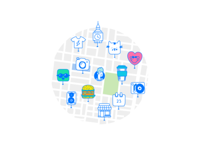 Ping Onboarding 01 local rating trip guide city urban street dating map onboarding