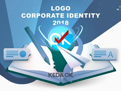 Keda Ok Logo Idea Learn Education Application logo icon app graphic design illustration design graphic ux ui branding