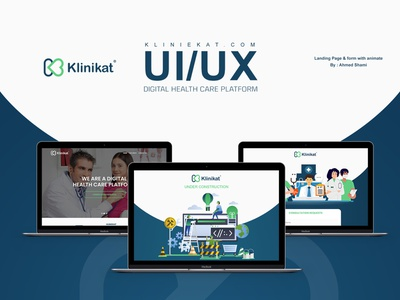 UI/UX Landing Page& form with animate For kliniekat.com animation ux  ui application medical website design web design webdesign website ui ux branding