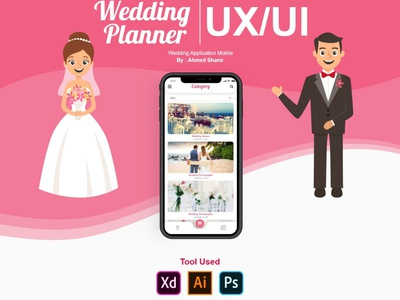 Wedding Planner Mobile Application UX UI planner wedding illustration branding xd design app ux ui