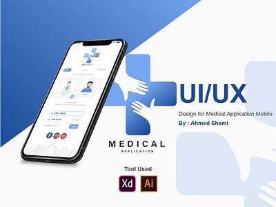 Free UI PSD Medical Application Login UI Design mobile app mobile mobile ui hospital clinic medical app medical application vector xd design app ux ui branding
