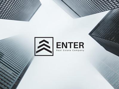 Enter Real Estate Company Logo Concept vector logo logo design illustration minimal design minimal design corporate design branding design branding