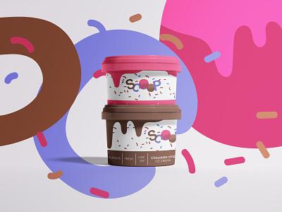 Scoop Ice Cream Logo Design icecream typography vector logo illustration corporate design logo design minimal design minimal design branding design branding