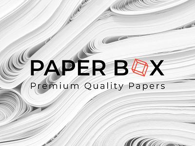 Paper Box Logo Design bookcover bookdesign minimal typography vector logo illustration logo design corporate design minimal design branding design branding minimal design