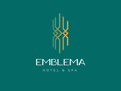 Logo Design for Emblema Hotel and Spa spa hotel branding hotel typography vector illustration logo design corporate design minimal design minimal design branding design branding