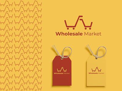 Wholesale Market E-commerce Logo Design eshop ecommerce typography vector logo illustration logo design corporate design minimal design minimal design branding design branding