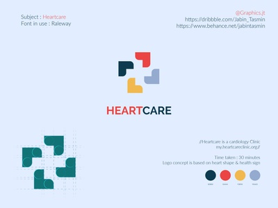 Heartcare Logo Design bookcover bookdesign minimal typography vector logo illustration logo design corporate design minimal design minimal design branding design branding