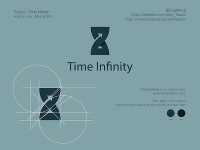 Time Infinity Logo Design bookcover bookdesign minimal typography illustration logo design corporate design vector minimal design minimal design branding design branding