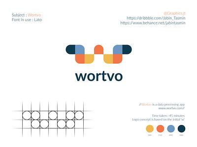 Wortvo Logo Design logo illustration logo design corporate design typography vector minimal design minimal design branding design branding