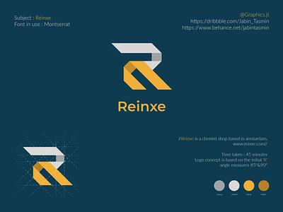 Reinxe Logo Design logo design logodesign corporate design corporate business card bookcover bookdesign minimal typography vector minimal design minimal design branding design branding