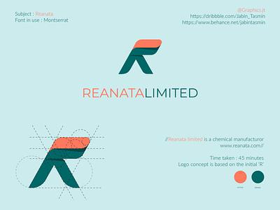 Reanata Limited logo design typography vector logo illustration logo design corporate design minimal design minimal design branding design branding