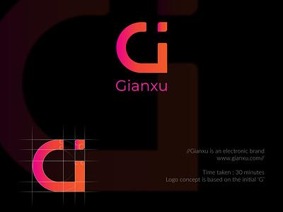 Gianxu Logo Design typography vector logo illustration logo design corporate design minimal design minimal design branding design branding