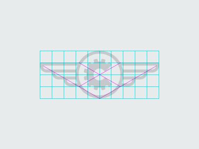 Chesva sign construction logo sign grid guides minimal chesva marine wings grabelnikov