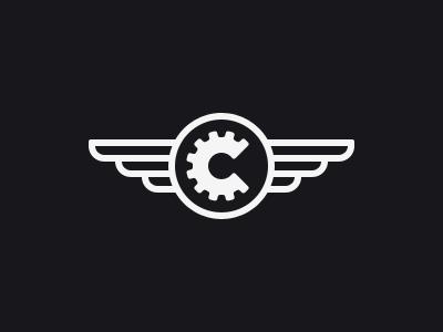 Chesva Sign marine logo sign minimal chesva wings grabelnikov